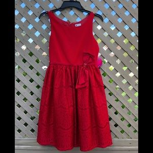 NWT Emily West Girls Red Dress Size 16